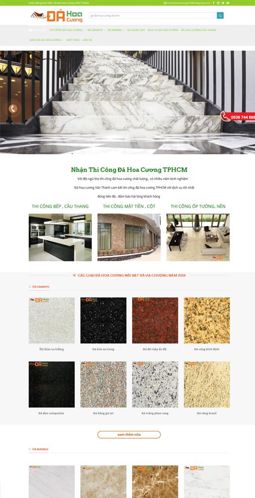 Thiết kế website Nội thất Đá hoa cương - Thiết kế web Uy Tín