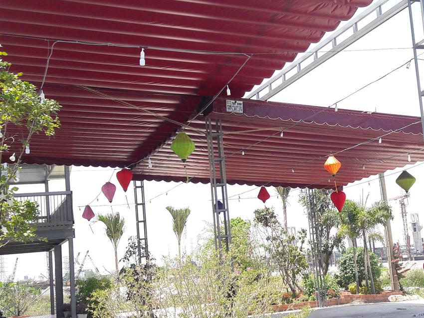 Địa chỉ cửa hàng công ty mua bán, cung cấp và phân phối lắp đặt mái che di động, mái che xếp, vòm che, mái che nắng, mái che mưa, bạt che hàng ở tại Đà Nẵng