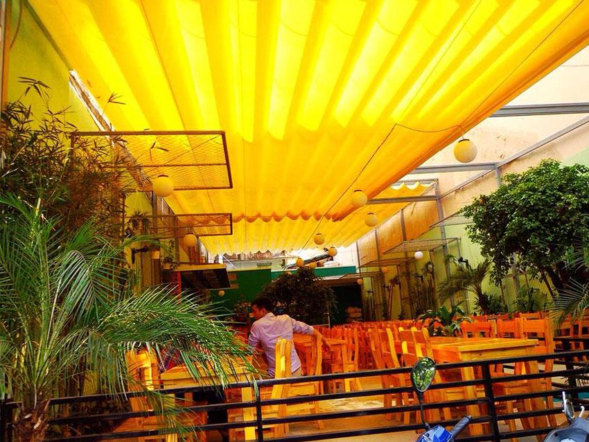 Thi Công Lắp Đặt Mái Che Nắng Quán Cafe Dĩ An Bình Dương